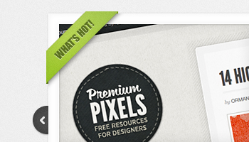Clean & Simple Image Slider (PSD)