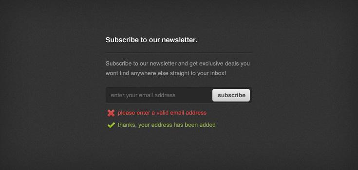 Newsletter Sign-up Form (PSD)