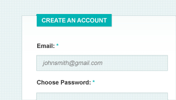 Clean & Simple Signup Form (PSD)