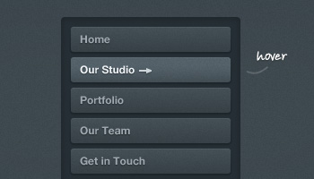 Dark Button Navigation 2 (PSD)