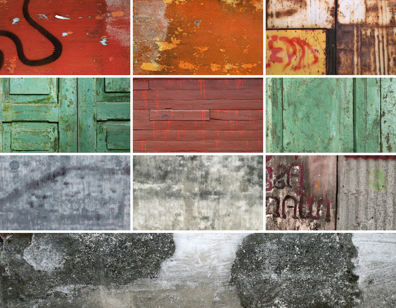 10 High Resolution Grungy Surface Textures