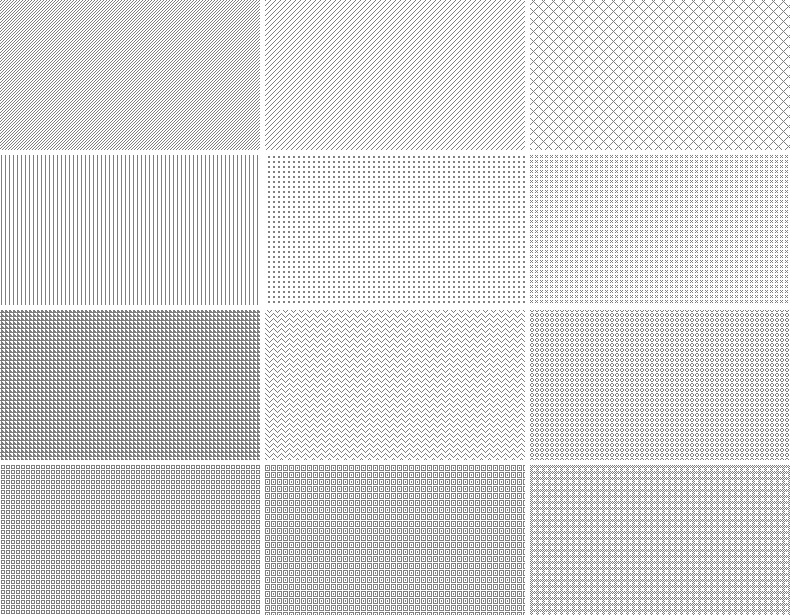 20 Repeatable Pixel Patterns