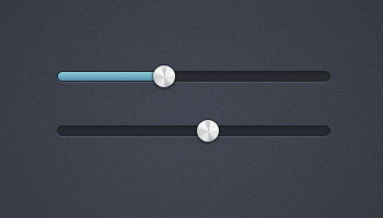 Slider Interface &amp; Metal Handle (PSD)