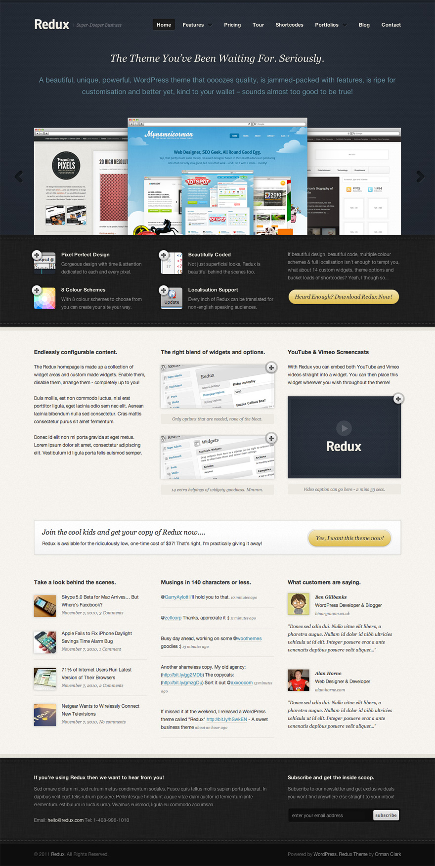 Business website template design accmission