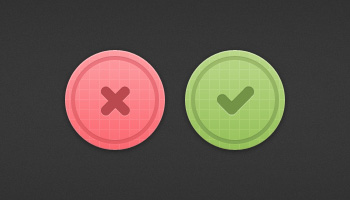 Tick &amp; Cross Buttons (PSD)