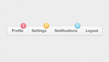 Menu Notification Badges (PSD)