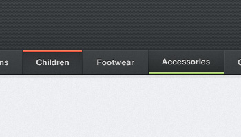 Dark Navigation Menu (PSD)