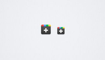 Google Plus(+) Icons (PNG & PSD)