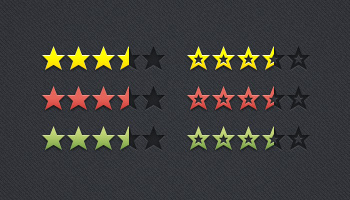 Review &amp; Rating Stars (PSD)