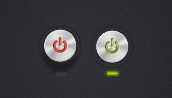 Circular Power Buttons (PSD)