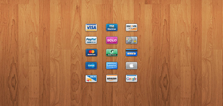 Mini Cards 15 Credit/Debit Card Icons
