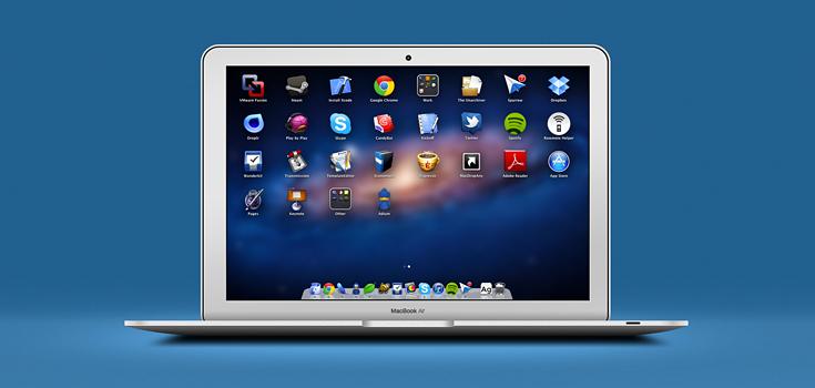 Fully Layered Macbook (PSD)