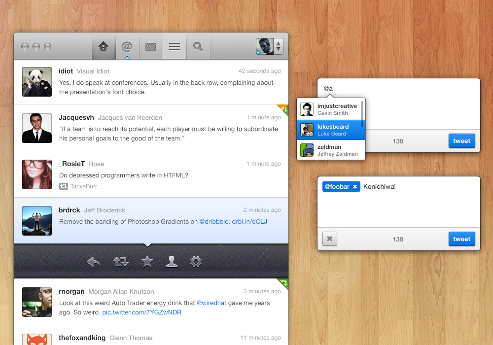 Twitter App Concept (PSD)