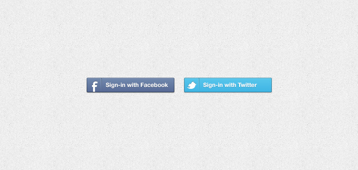 Facebook &amp; Twitter Sign-in Buttons (PSD)
