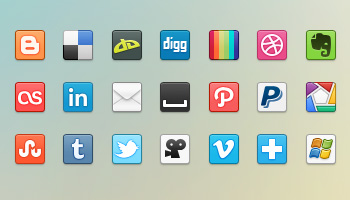 41 Social Media Icons (PNG)