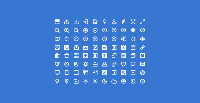 80 Mini Icons (PSD + Icon Font)